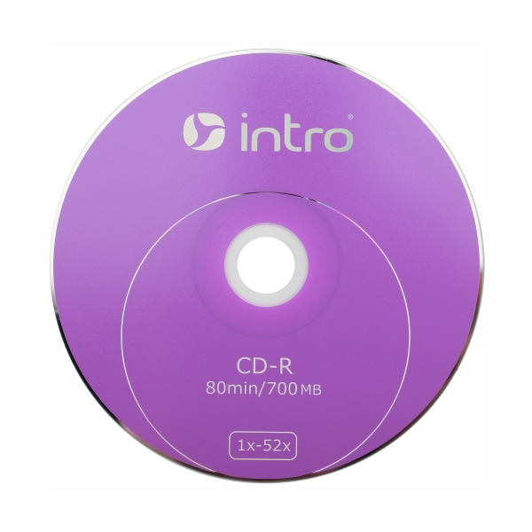 "Диск CD-R ""INTRO"" 700 Mb 52x , конверт — Абсолют"