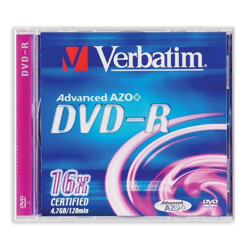 "Диск DVD-R ""Verbatim"" 4.7Gb 16x Slim (color) — Абсолют"