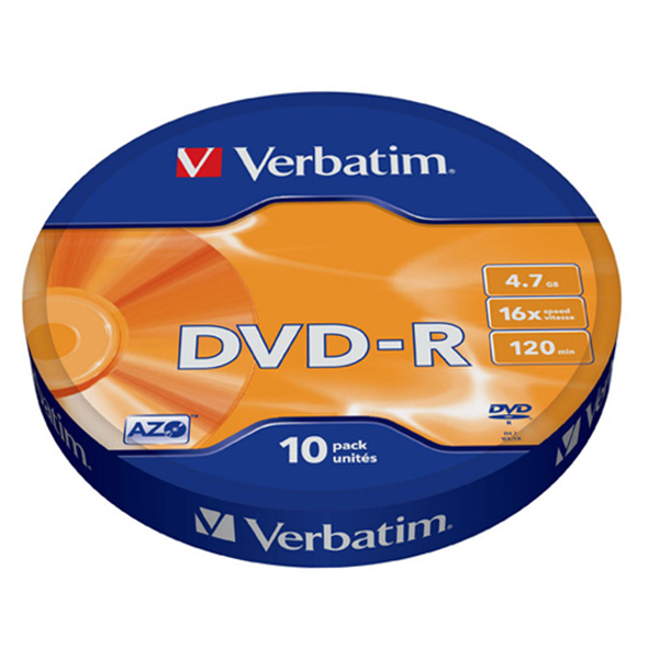 "Диск DVD-R ""Verbatim"" Shrink 4.7Gb 16x  10 шт — Абсолют"