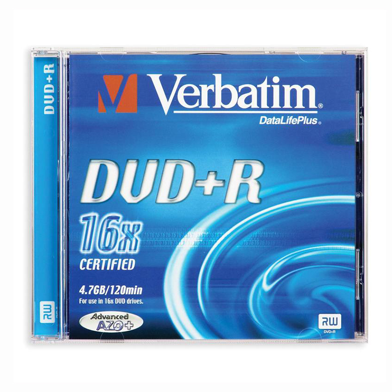Диск  DVD+R Verbatim 4.7Gb 8x Slim — Абсолют
